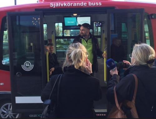 Självkörande bussar i reguljärtrafik.