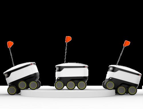 Robot-transport hem till dörren